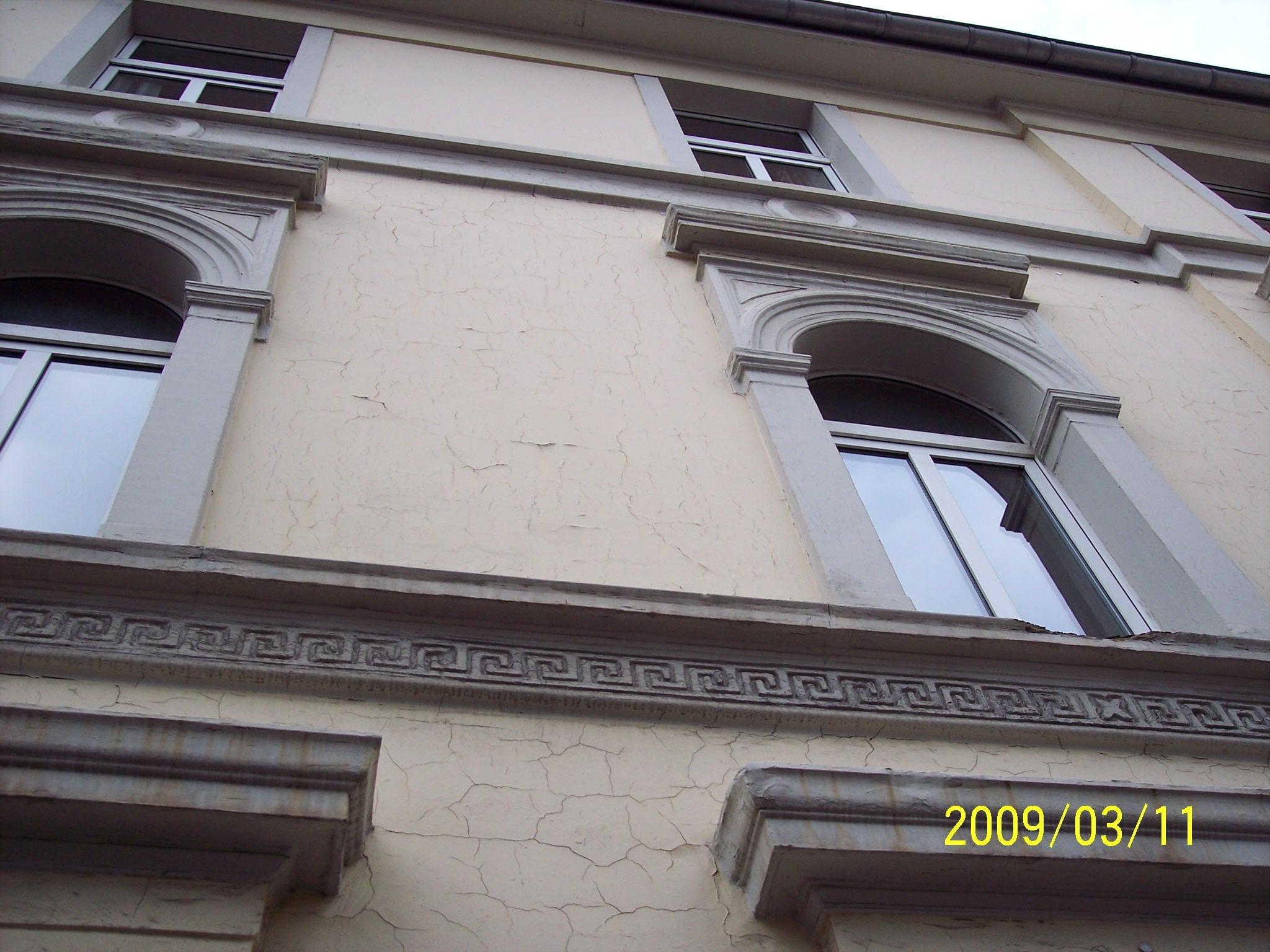 restaurierte Häuserfassade